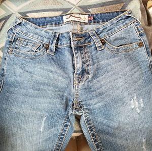 NWOT LA Idol Jeans 5 Distressed Skinny Leg